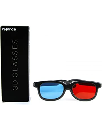 54ca94522 Domo nHance CM230B Anaglyph Passive Cyan and Magenta 3D Glasses (Black)