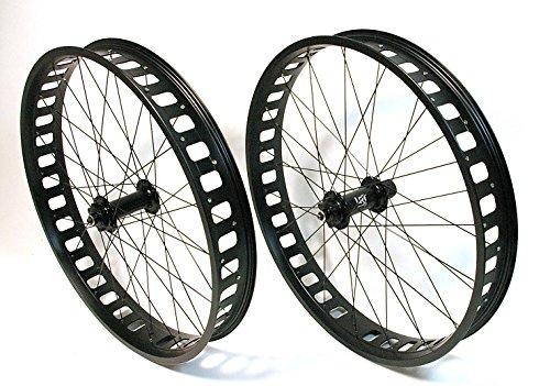 LRT 26 Zoll Fatbike Laufradsatz Vorderrad und Hinterrad 80mm Fat Bike Felge