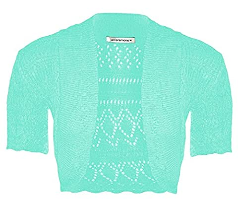 New Girls Kids Short Sleeve Crochet Knitted Bolero Shrug Ladie