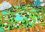 Snapstyle Kinder Spiel Teppich Campingplatz Grün in 24 Größen