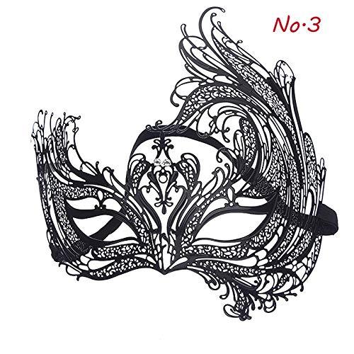 Macxy - 1Pcs aushöhlen Schädel Hochwertige Eisen-Masken-Halloween Scary Horror-Maske Maskerade-Maske Adultparty Masken Mascara de Halloween [3] (Scary Vogelscheuche Halloween-masken)