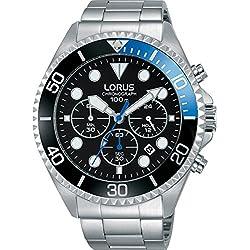 LORUS Homme Chronographe Quartz Montre avec Bracelet en Acier Inoxydable RT315GX9