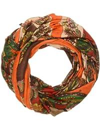 Kandharis Rundschal Loop-Schal in trendige Paisley Zacken Dots Sternen Muster