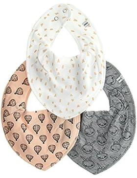 Pippi 3er Pack Baby Unisex Halstuch mit Aufdruck, One Size, 4452