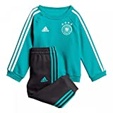 adidas Baby DFB 3 Stripes Babyjogger Trainingsanzug, EQT Green s16/Black/White, 62