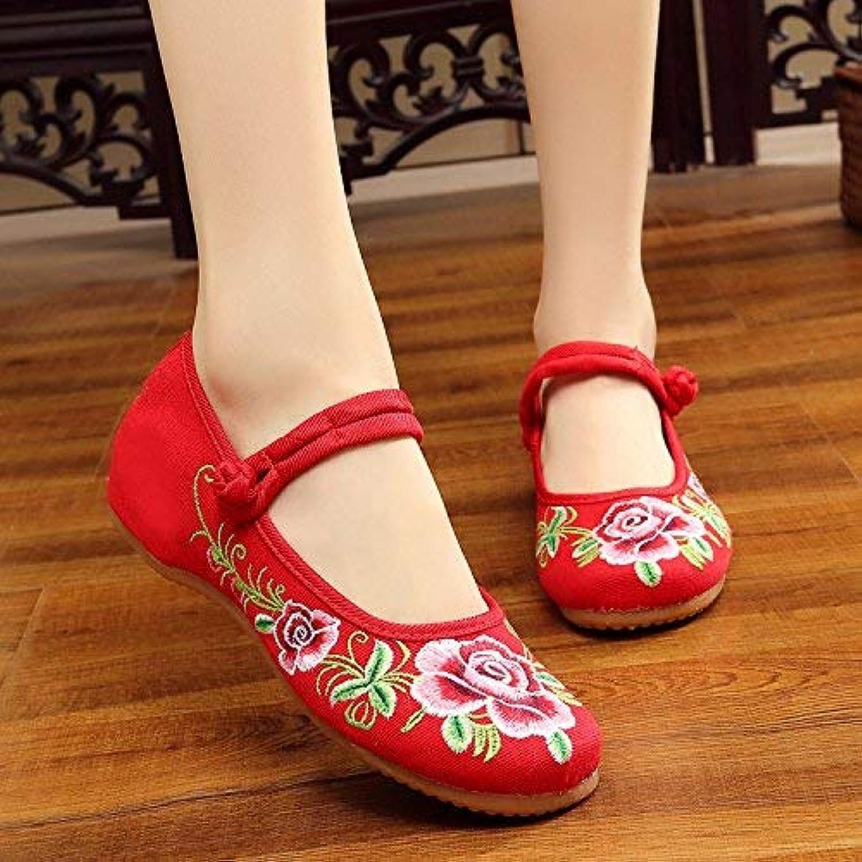 Moontang Flat scarpe Scarpe Ricamate, Suola Suola Suola a Tendine, Stile Etnico, Scarpe di Stoffa Femminile, Moda, Comodo, Casual... | Di Qualità Superiore  813f1b