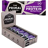 The Primal Pantry High Protein Bar - mit 15g Hanfprotein je Energie-Riegel (Schoko Brownie 15er Karton)