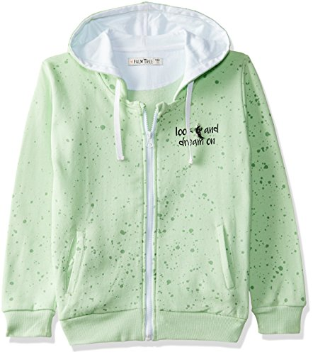 PalmTree Girls' Jacket (131246517183 C713_Patina Green(C713)_7-8 Years)