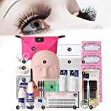 False Eyelash Black Professional Expansion Kit Luckyfine - Eyelash Brush Set Set Box Tool Salon Tools Primary practice training - Cosmetic bag
