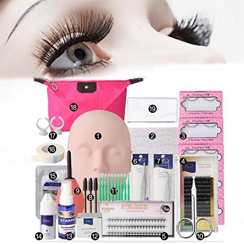 yfine Übungskopf Trainingsköpfe für Praxis Make Up Eye False Wimpern Wimpernverlängerung Lip Practice Modell ()