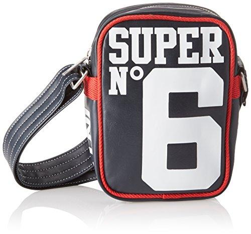 Superdry - Super 6 Festival, Mochilas Hombre, Blu (Navy/optic), 16.0x23.0x6.0 cm (W x H L)