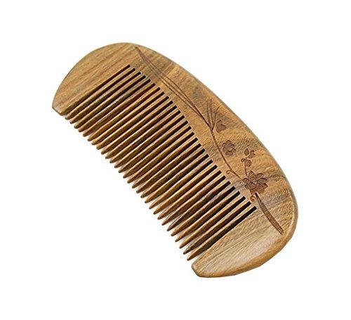 ACMEDE - Petit Peigne a cheveux En Bois de Santal Vert Dent moyenne Medium Tooth Comb hair