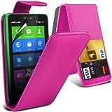 (Pink) Nokia X Custom Designed Stilvolle Accessoires zur Auswahl Schutzmaßnahmen Kunst Credit / Debit-Karten-Leder Flip Case Hülle & LCD-Display Schutzfolie von Hülle Spyrox