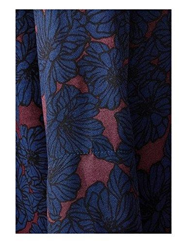 Street One Mat-Mix Turtle Neck, T-Shirt Manches Longues Femme Blau (Night Blue 30109)