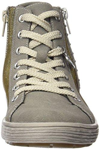 Rieker K1973, Baskets hautes fille Or - Gold (gold-silver/staub / 90)