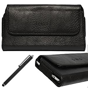 DMG Leather Pouch Belt Clip Holster Case for Lenovo Vibe X S960 (Black) + Stylus