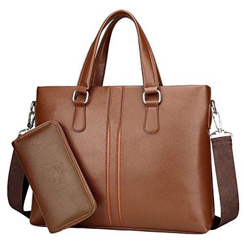 Männer Geschäft Handtasche Große Kapazität Einzigen Schulter Diagonalen Paket Aktenkoffer Tasche Computer Tasche Brown