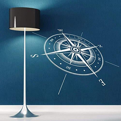Kompass Alle Richtungen Punkte Vinyl Kunst Design Mode Stil Wandaufkleber 3D Home Room Decor Wandtattoos 118 * 85 Cm -
