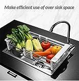 #9: FastUnbox New Arrival Kitchen Draining Rack Shelf Plates Holders Food Washing Racks Home Storage Kitchen Utensil Flexible