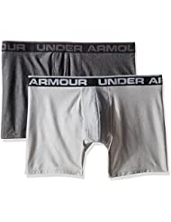 Under Armour O Series 6'' Boxerjock 2 PK Boxer, Hombre, Gris (Carbon Heather), XL