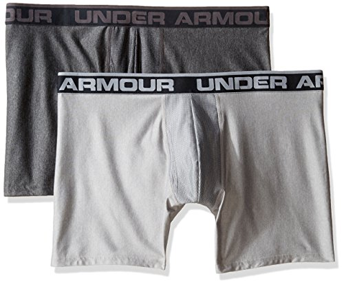 Under Armour Herren O Series 6 zoll BoxerJock 2 PK carbon heather-true gray heather (1282508-092)