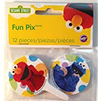 Wilton Sesame Street Licensed Fun Pix Cupcake Toppers, 12 Count by Wilton - Sesame Street Topper
