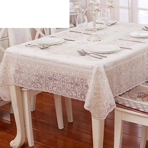 XKQWAN PVC Tischdecke Wasserdicht Einweg-tischdecken Spitzen Tischdecke Europ?isch Rechteck Wasserdicht Kunststoff Tischdecke-A 133x177cm(52x70inch)