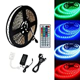 ECOLUX® 10M 5050 RGB 600Led Color Changing Led Strips with 44 key IR Remote+24V 6A AC UK Plug Adapter Power Supply for Home lighting and Kitchen Decorative