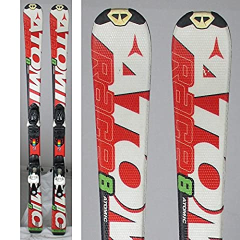 Ski occasion junior Atomic race 7/8 Interski blanc rouge +
