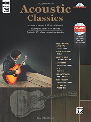 Classic Acoustic Guitar Play-Along: Guitar Tab, Book & CD-ROM