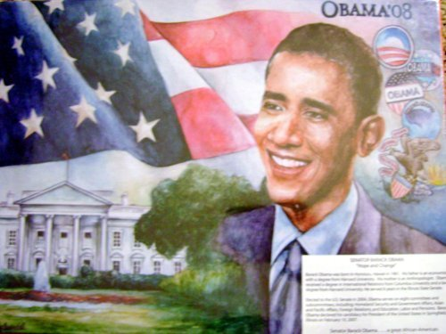 OBAMA '08 SENATOR Barack Obama 504 Piece Puzzle HISTORICAL SERIES PUZZLE MADE IN USA PUZZLE by Obama Historical Series Puzzle Obama-serie