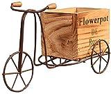KUMOPYU Idilliaco Portabiciclette per Biciclette in Ferro battuto Tavolo da Interno Triciclo Supporto per Fiori in Legno Decorazioni per la casa da Giardino Supporto per Fiori Decorativo