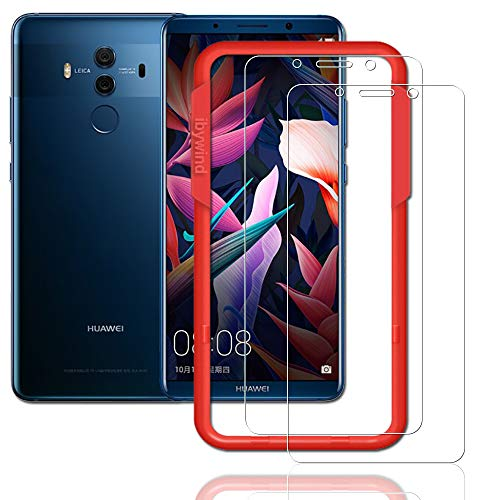 Price comparison product image Flos [2PCS Pack] Huawei Mate 10 Pro Screen Protector, **Bubble Free Installation Applicator Tempered Glass Screen Protector [Anti-Fingerprint] For Huawei Mate 10 Pro-Transparent