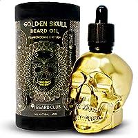 Aceite Para Barba Golden Skull | Incienso y Mirra | 60ml | Natural y Orgánico | Suavizar, Acondicionar, Ayudar con la Picazón y las Escamas de la Barba, Mejorar el Crecimiento, Brillo y Grosor