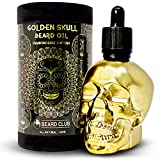 Aceite Para Barba Golden Skull | Incienso y Mirra | 60ml | Natural y Orgánico | Suavizar, Acondicionar, Ayudar con la Picazón y las Escamas de la Barba, Mejorar el Crecimiento, Brillo y Grosor