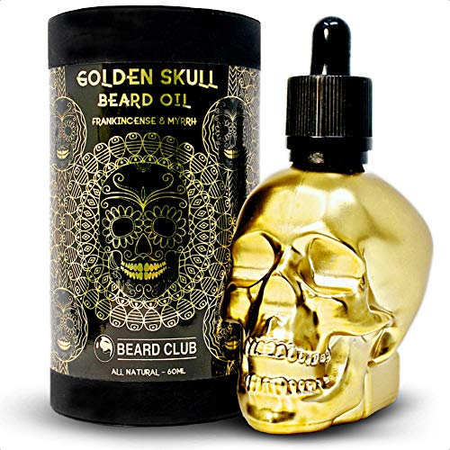 Aceite Para Barba Golden Skull | Incienso Mirra |