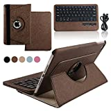Boriyuan Touch Screen Tablet Computer Keyboard Case For Ipad Air 2 (Brown)