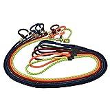 Romneys Hundeleine mit Hansband 6mm | Moxonleine Retrieverleine Agilityleine | Mit Zugbegrenzung, Zugstopp aus Hirschhorn (Orange, 130 cm)