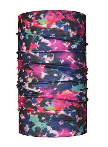 headloop Multifonction Chiffon Multicolore Fleurs Batik Loop Tuyau Chiffon écharpe Foulard tête en Microfibre
