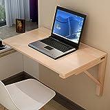 LQQGXLPortabler Klapptisch Wand-Esstisch aus massivem Holz, zusammenklappbarer Computertisch, einfacher Schreibtisch, (Farbe : A, größe : 80 * 60cm)