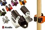 GERÄTEHALTER 10 Stück Klemmfix von 4smile – Made in Germany | Besen-Halter geeignet für alle handelsüblichen Haushalts- und Garten-Geräte | leichte Wandmontage | extrem witterungsbeständig | rostfrei
