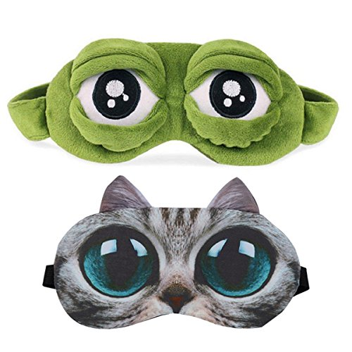 Apparel Accessories Men's Accessories Sensible Cute Eyes Mask Cover Plush The Sad 3d Frog Eye Mask Cover Sleeping Rest Travel Sleep Anime Funny Gift Elastic Band