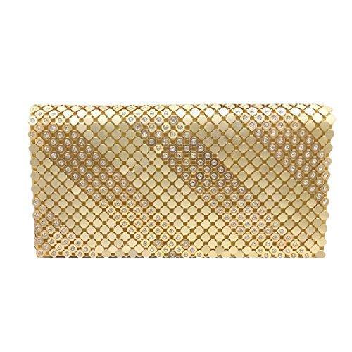 Damen Abendtasche Bankett Beutel Mode Umhängetasche Gold