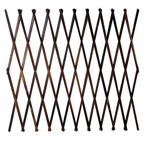 YYFANG Gartenzaun Holz Rosenpflanze Klettergerüst Zusatzpflanzenwachstum Korrosionsbeständiges Design Gartenrasen, 6 Größen (Color : Brown, Size : 127x150cm)