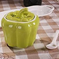 suministros de cocina creativa Botella de condimento cerámica Kit Caja de especias de sal Vinagrera tarro