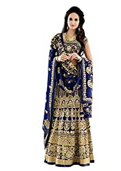 Fabron Royal blue dori work raw silk lehenga choli & dupatta set.