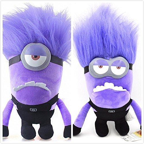 Preisvergleich Produktbild HQS 2Pcs Despicable Me 2 Böse Two Eyed und One Eyed Lila Minions Plüschtier Bad Minions Puppe
