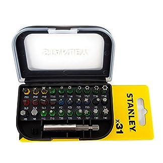 STANLEY STA60490-XJ – Juego de 31 piezas para atornillar con puntas inviolables y adaptador magnético