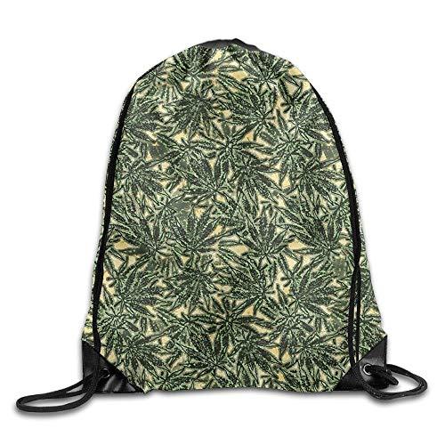 uykjuykj Marijuana Weed Leaf Kawaii Teen Girl Zaino con Coulisse, Borsa da Ginnastica, Marijuana...