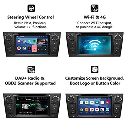 eonon-GA9365-Android-9-fit-BMW-E90-E91-E92-E93-2GB-RAM-32GB-ROM-Quad-Core-178-cm-LCD-HD-Touchscreen-DVD-GPS-Navigation-untersttzt-integrierter-Bluetooth-5-Empfnger-4G-WiFi-DAB-OBDII